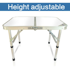 Mini Portable Folding Table Aluminum Indoor Outdoor Picnic Camping Foldable Desk