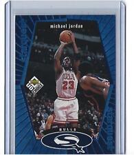 1998-99 UD Choice Michael Jordan Starquest Blue Foil !! #SQ30 (Bulls)