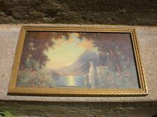 """MOONLIGHT & ROSES"" KENDALL MANNING FRAMED ART PRINT 1920'S"
