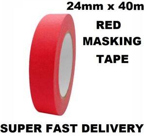 Red Masking Tape Washi Tape Ultimate Finish Set Painters Decorative 24mm x 40m