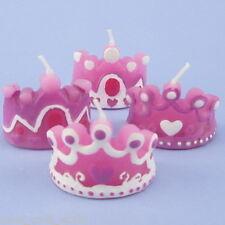 Set Of 4 Princess Crown Candles