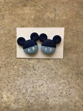 Stud Earrings Mickey Mouse Blue