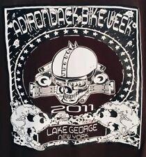 BIKE WEEK 2011 T-SHIRT ADIRONDACK LAKE GEORGE NEW YORK SKULLS INDIAN CHOPPERS