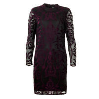 iBlues Max Mara Dress Purple & Black Lace Leccio BG