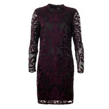 iBlues Max Mara Dress Purple & Black Lace Leccio RRP £215 BG
