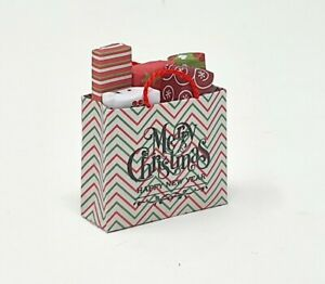 Miniature Dollhouse Accessories Christmas GiftBag with lots of Presents 1:12th
