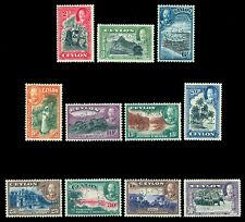 CEYLON  1935  KGV  Pictorial set - SPECIMEN - perf.  SG 368s-78s mint MH