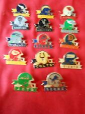 """Great Collection 14 Metal NATIONAL FOOTBALL LEAGUE """"Tie Tacks"""".....ON  SALE"""