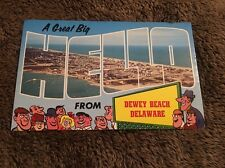 Vintage Postcard Unposted Hello From Dewey  Beach Delaware