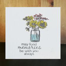 Flower Vase Transparent Stamps For DIY Scrapbooking Album Paper CardsSC