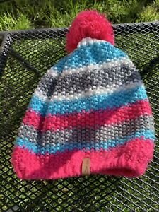 Kids Pink, Blue, White & Grey Crane Sports Bobble Hat