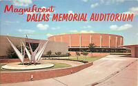 Postcard Dallas Memorial Auditorium, Dallas, TX