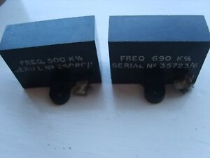 2 VINTAGE USED RADIO CRYSTALS  AMATEUR RADIO   MAYBE AN IF FILTER FOR A RX