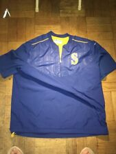 Majestic MLB Authentic Seattle Mariners Short Sleeve BP Jacket Throwbak Mens XXL