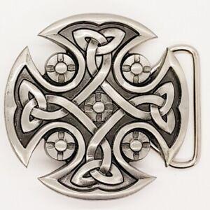 Celtic Cross Knotwork Belt Buckle Biker Metal Gothic Pagan Viking mjolnir