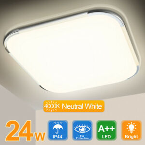 LED Deckenleuchte Deckenlampe Badlampe Wohnzimmer Badezimmerlampe Neutralweiß