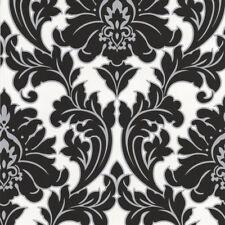 Superfresco Easy Paste the wall Majestic Damask Black / White Wallpaper