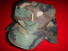 US Army 2nd LIEUTENANT Rank Officer Camo Utility Hat With Original Label