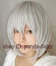 wigs,argent blanc, courte,  perruque .cos perruque,japonais perruques