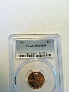 1969 PCGS graded Lincoln Memorial Cent.
