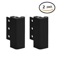 2 Pack Home Security Child Safety Door Lock Reinforcement Lock Add Extra Black