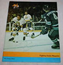 1975 1976 St Paul Fighting Saints vs Cincinnati Stingers Program Dave Keon Auto