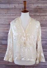 NWT PJK PATTERSON KINCAID Women's Sheer Half Button Down Tunic Blouse Size XS