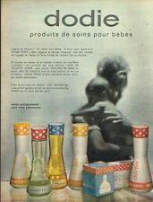 I - Publicité Advertising 1963 Cosmétique pour bébé Dodie produits de soin