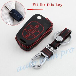 Leather Key Bag Shell Holder Case Pack Keyfob Cover Fit For Hyundai I20 I30 IX35
