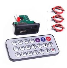 5V/12V Mini MP3 Decoder Board USB TF Reader+IR Remote Controller Player for Car