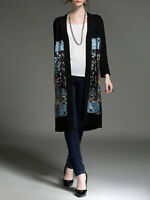 Black Knitted Long Sleeve Cardigan, NWT, 18107