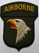 US Army 101st Airborne Iron on Patch Brand New Iron on Sew on embroided patch
