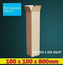 20x Tall Shipping Carton 100x100x800mm Brown Mailing Box Long Tube Replacement