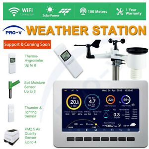 PRO-VISION Weather Station WiFi Wireless Solar Powered UV Indoor Outdoor Alarm