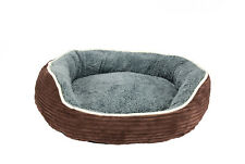 Hunde o. Katzen,Bett,Korb,Sofa, mit Kissen, weich, waschbar, braun/grau, MCHZ013