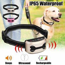 Anti Bark Collar Control For Pets Dog Ultrasonic Collars Rechargeable Waterproof