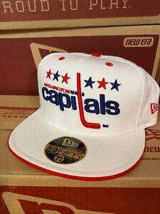 NHL Washington Capitals Hat 7+5/8 New Era Wool Cap *New Old Stock*circa 2004 NWT