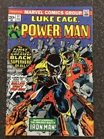 Luke Cage Power Man #17 1974 Marvel Comics IRON MAN Appearance