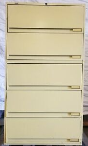 Lateral Office Filing Cabinets With 5 Drawers For Sale Ebay