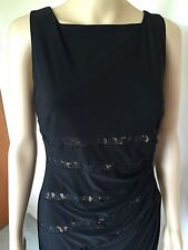 New Anne Klein dress, size 8, Black color, polyester/spandex, sleeveless, lined