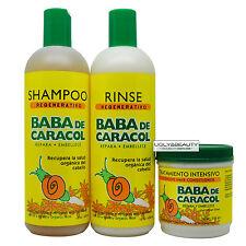 Baba De Caracol Regenerativo Shampoo & Rinse 16 Oz + Intensive Conditioner 8 Oz