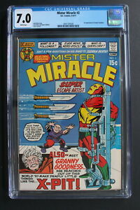 MISTER MIRACLE #2 DC 1971 MOVIE KIRBY 4th World 1st GRANNY GOODNESS CGC FNVF 7.0
