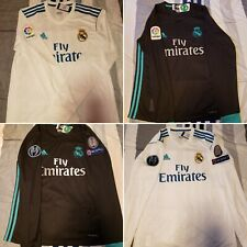 *** Real Madrid Long Sleeve Jersey - Home/Local Away/Visitante 17/18 ***