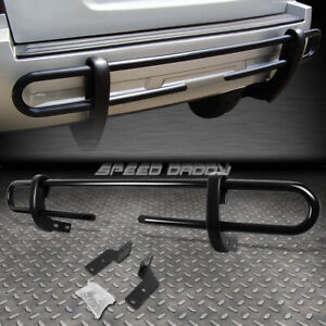 FOR 03-20 TOYOTA 4RUNNER/GX BLACK COATED DOUBLE-BAR REAR BUMPER PROTECTOR GUARD