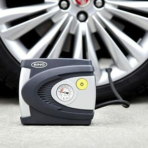 Ring 12V Fast Tyre Inflator Air Compressor Car Bike Tyre Toy, Electric Air Pump