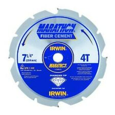 "NEW IRWIN 4935473 MARATHON 7 1/4""  4 TPI FIBER CEMENT CARBIDE CIRCULAR SAW BLADE"