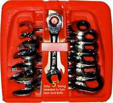 SAE Stubby Ratchet Gear Wrench Set 7 Piece imperial T&E tools S13006 NEW SPECIAL