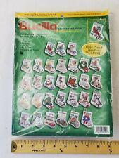 Bucilla Counted Cross Stitch Christmas Ornaments Kit #84293 30 Tiny Stockings