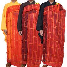 Shaolin Buddhist Monk Dress Kesa Priest Robe Cassock Meditation Kung fu Suit