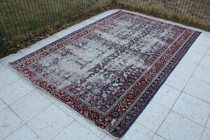"Vintage Handmade Turkish Oushak Area Rug 100""x67"", 253x170cm"